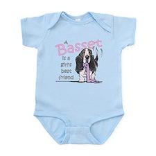 Basset Girls Friend Infant Bodysuit