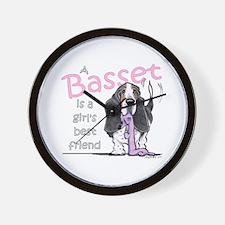 Basset Girls Friend Wall Clock