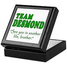 TEAM DESMOND with Quote Keepsake Box