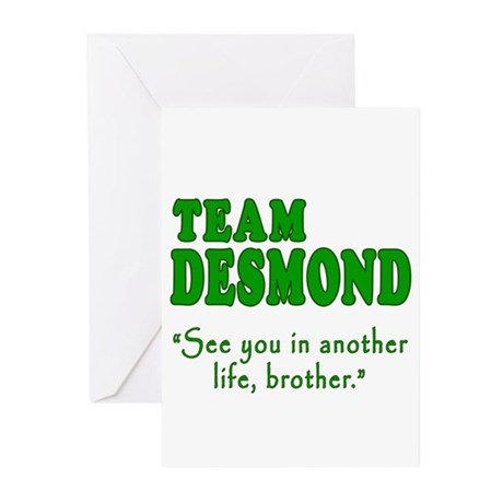 TEAM DESMOND with Quote Greeting Cards (Pk of 10)