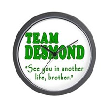TEAM DESMOND with Quote Wall Clock