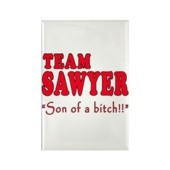 TEAM SAWYER with SOB Rectangle Magnet (100 pack)