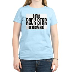 Rock Star In Swaziland Women's Pink T-Shirt