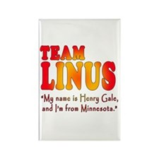 TEAM LINUS with Ben Linus Quote Rectangle Magnet