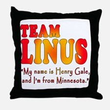 TEAM LINUS with Ben Linus Quote Throw Pillow