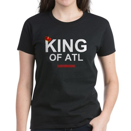 KING OF ATL WITH CROWN Women's Dark T-Shirt