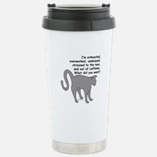 Exhausted & Overworked! Travel Mug