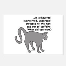 Exhausted & Overworked! Postcards (Package of 8)