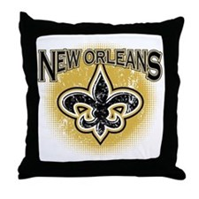 New Orleans Team Throw Pillow