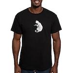 Touch My Caffeine... Men's Fitted T-Shirt (dark)