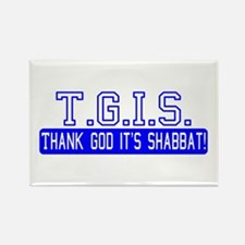Thank God It's Shabbat! Rectangle Magnet