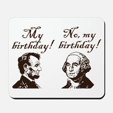 Presidents' Birthday Mousepad