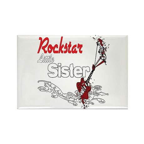 Rockstar Little Sister Rectangle Magnet