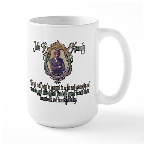 JFK on Secret Societies Large Mug