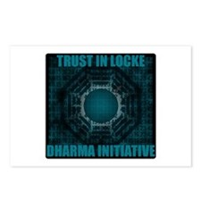 Trust in Locke - Dharma Num Postcards (Package of