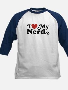 I Love My Nerd Kids Baseball Jersey