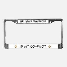 Co-pilot: Belgian Malinois License Plate Frame