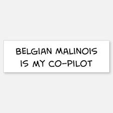 Co-pilot: Belgian Malinois Bumper Bumper Bumper Sticker