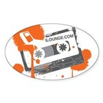 Mix Tape Sticker (Oval 10 pk)