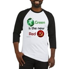 Green is the new Red Baseball Jersey