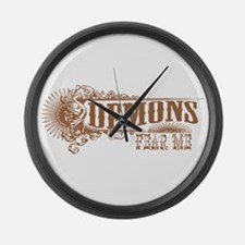 Demons Fear Me Large Wall Clock