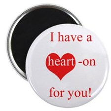 Unique Red hot heart Magnet