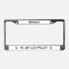 Co-pilot: Beagle License Plate Frame