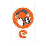 HiFi Headphone Sticker (Rectangle 50 pk)