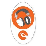 HiFi Headphone Sticker (Oval 50 pk)