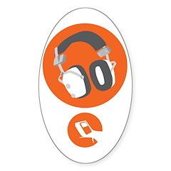 HiFi Headphone Sticker (Oval 10 pk)