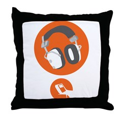 HiFi Headphone Throw Pillow