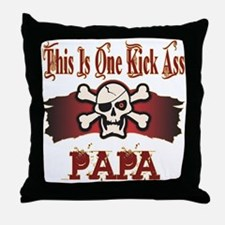 Kickass Papa Throw Pillow