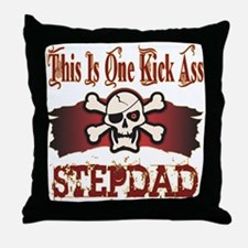 Kickass Stepdad Throw Pillow