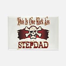 Kickass Stepdad Rectangle Magnet