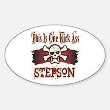 Kickass Stepson Sticker (Oval)