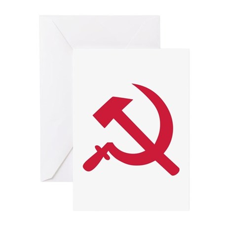 Hammer and sickel Greeting Cards (Pk of 10)