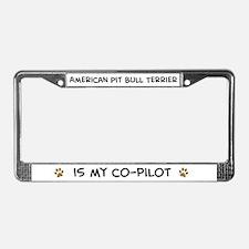 American Pit Bull Terrier License Plate Frame
