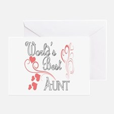 Best Aunt (Pink Hearts) Greeting Card