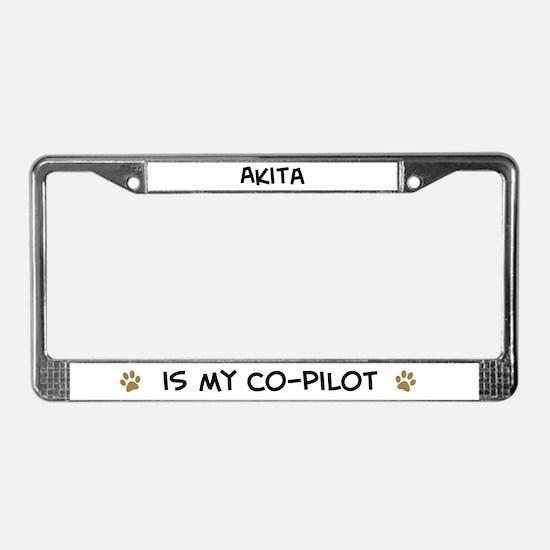 Co-pilot: Akita License Plate Frame