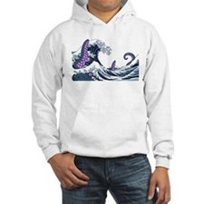 the great wave and the giant Hoodie