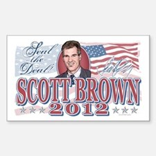 Seal The Deal Brown 2012 Sticker (Rectangle)