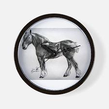 Cute Shire horse Wall Clock