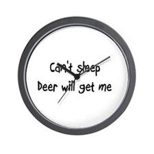 Can't sleep, Deer will get me Wall Clock
