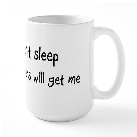Can't sleep, Hamsters will ge Large Mug