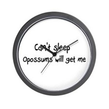 Can't sleep, Opossums will ge Wall Clock