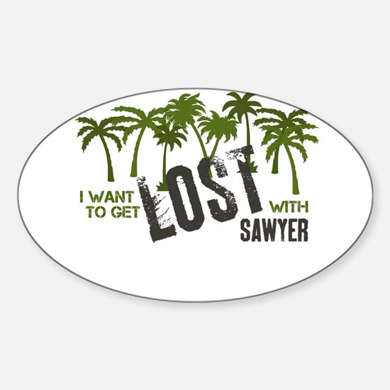 I want to get LOST with SAWYE Sticker (Oval)