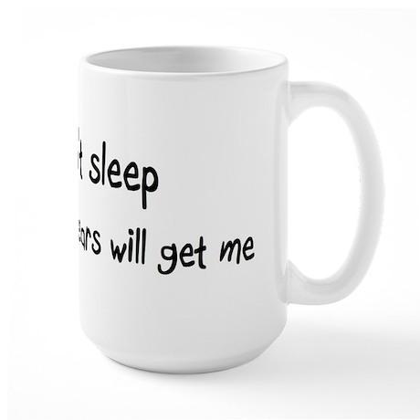 Can't sleep, Polar Bears will Large Mug