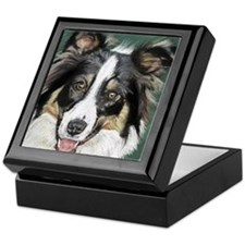 collie pup Keepsake Box