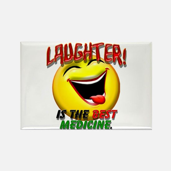 Laughter is the Best Medicine Rectangle Magnet