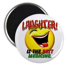 """Laughter is the Best Medicine 2.25"""" Magnet (10 pac"""